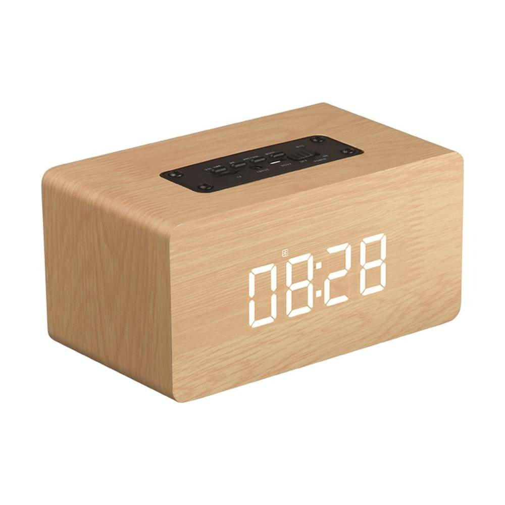 radio reveil en bois bluetooth qualite de son superieur